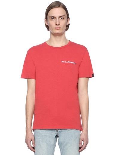 Rag&Bone Bisiklet Yaka Tişört Kırmızı